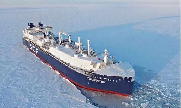 Русский танкер прошёл на рекордной скорости по северному морю без ледокола Россия, Танкер, Газ