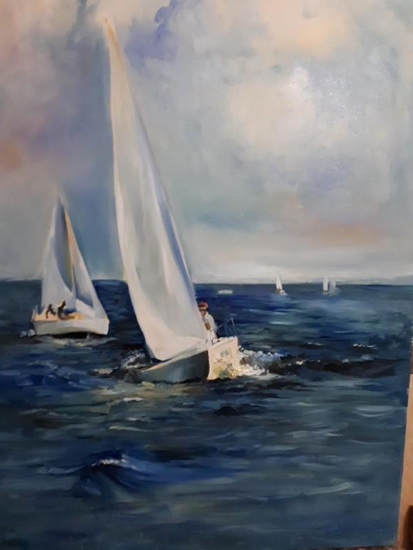 Моя жена начала писать мою мечту + для окончания работы Лига художников, Река Волга, Длиннопост