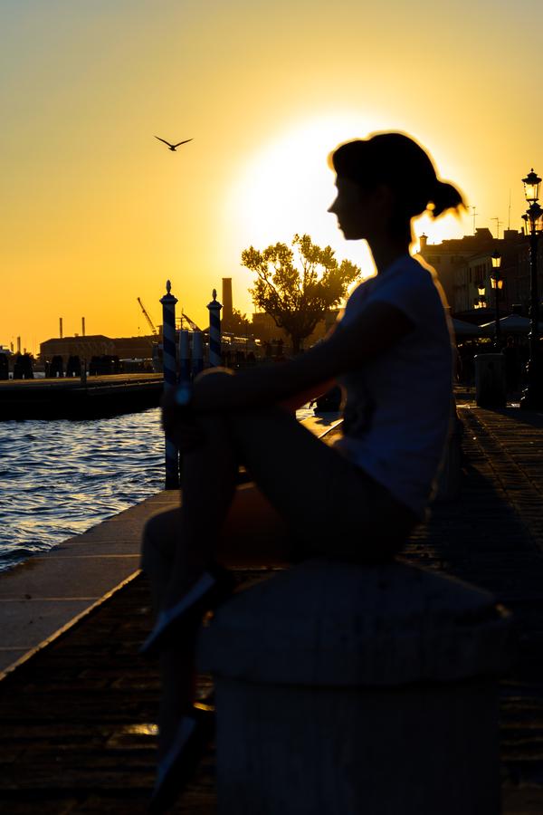 Венеция на закате. Nikon d3100, Венеция, Италия, Фотография