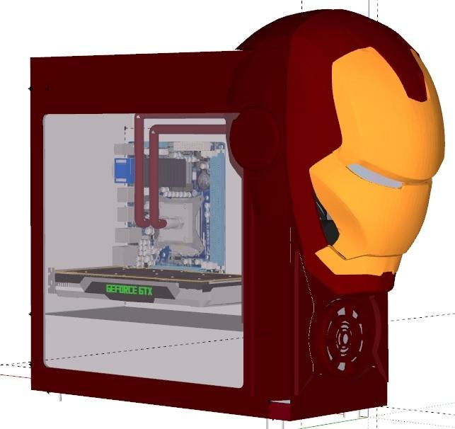 Моддинг старого корпуса компьютера в стиле Iron Man. Часть 2 Моддинг, Корпус, Железный человек, Творчество, Длиннопост