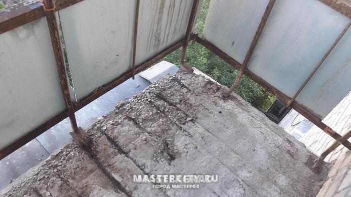 Ремонт балкона Ремонт, Балкон, Стяжка, Цемент