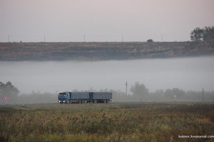 Волшебство утреннего тумана и никакого фотошопа! Туман, Утро, Мираж, Краснодарский Край, Авто, Фотография, Моё, Livejournal
