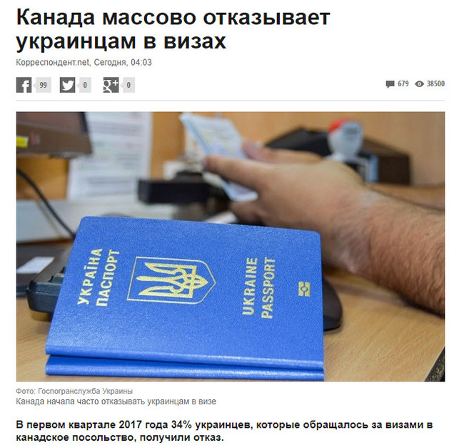 Нагрянула зрада откуда не ждали. Практически удар в спину. политика, Украина, Канада, Виза, twitter