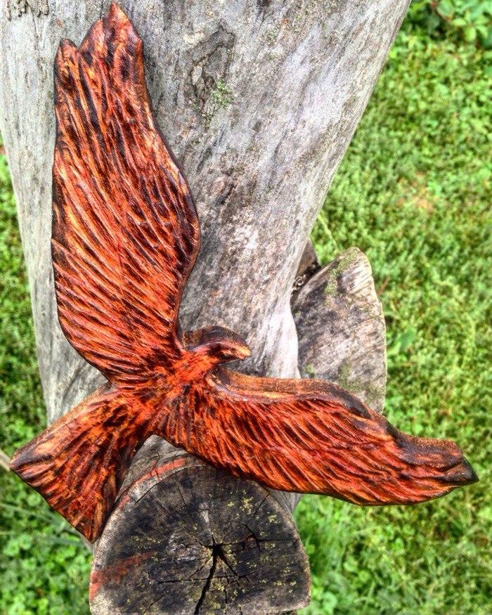 Феникс Своими руками, Жар-Птица, Феникс, Резьба по дереву, Ручная работа, Phoenix, Липа