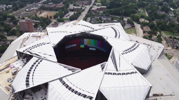 Новый потрясающий стадион в Атланте! Футбол, Mls, Американский футбол, Nfl, США, Атланта, Стадион, Технологии, Гифка, Длиннопост