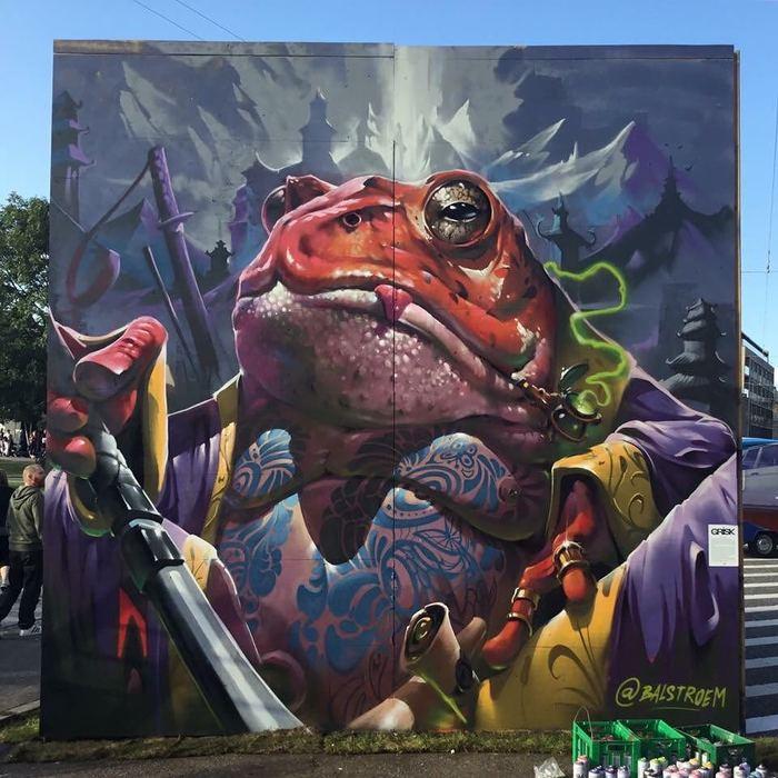 Стрит-арт.Жаба