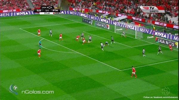 Невероятный гол Андре Алмейды с разных ракурсов Бенфика, Портимоненсе, Футбол, Андре Алмейда, Гифка