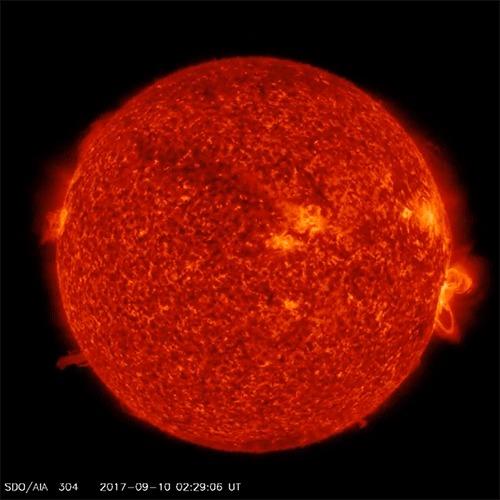 Вчерашняя массивная вспышка на Солнце Солнце, Вспышка, Гифка