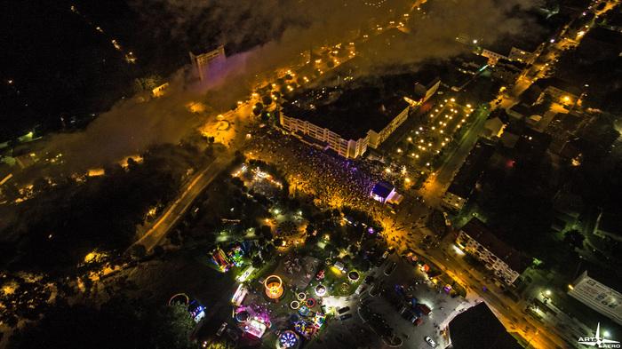 Фотки с дня города Калининградская область, Черняховск, Салют, Квадрокоптер, День города