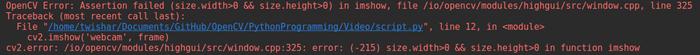 Не видит камеру в PyCharm(openCV) Python, OpenCV, Ошибка, Помощь, Ubuntu
