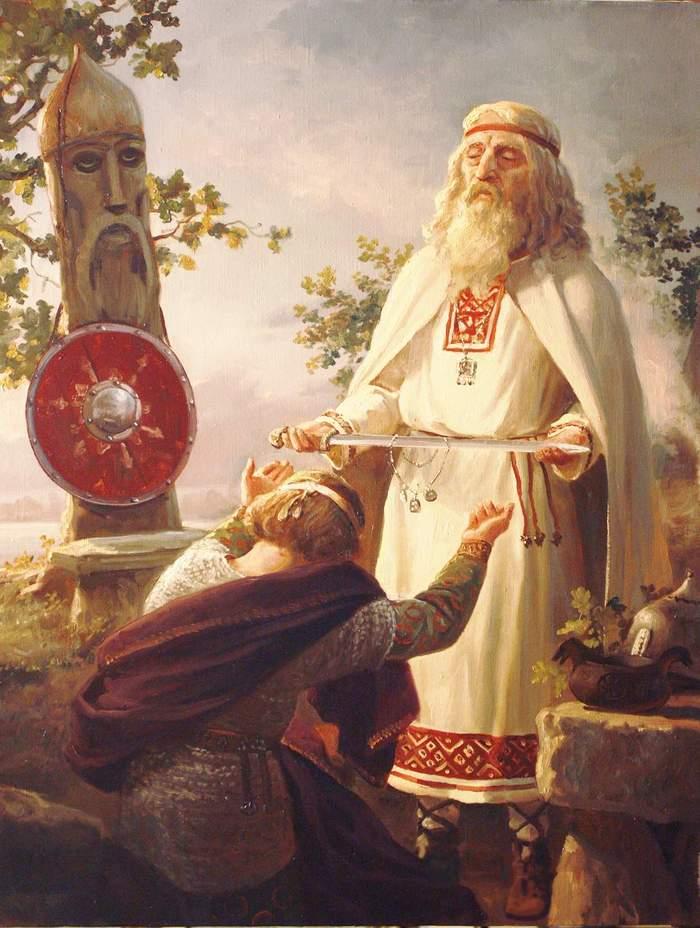 Благословение ратника Арт, Картинки, Славяне, Ратник, Старец, Благословение