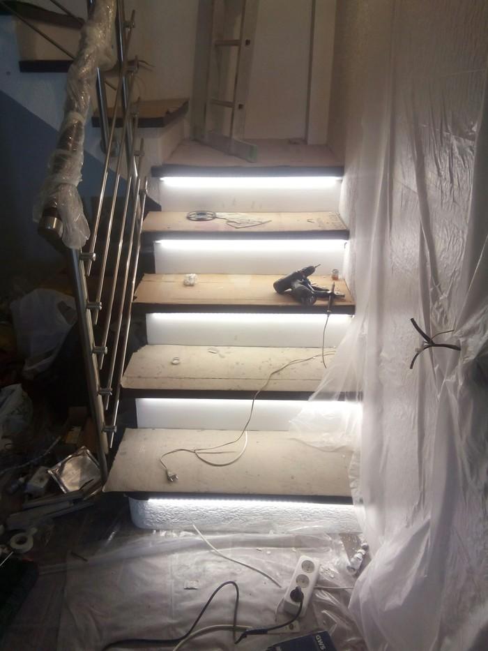 Автоматическая подсветка лестницы Освещение, Лестница, Подсветка, Видео, Длиннопост