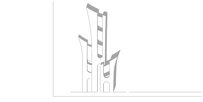 Многофункциональный Деловой Комплекс. Концепция Архитектура, Современная архитектура, Концепция, Проект, Бизнес-Центр, Здание, Сооружения, Длиннопост