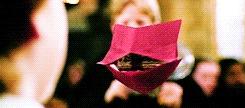 Для тех, кто любит оригами и привык делать выговоры оригинально) Гарри Поттер, Кричалка, Оригами, Письмо, Своими руками, Гифка, Длиннопост
