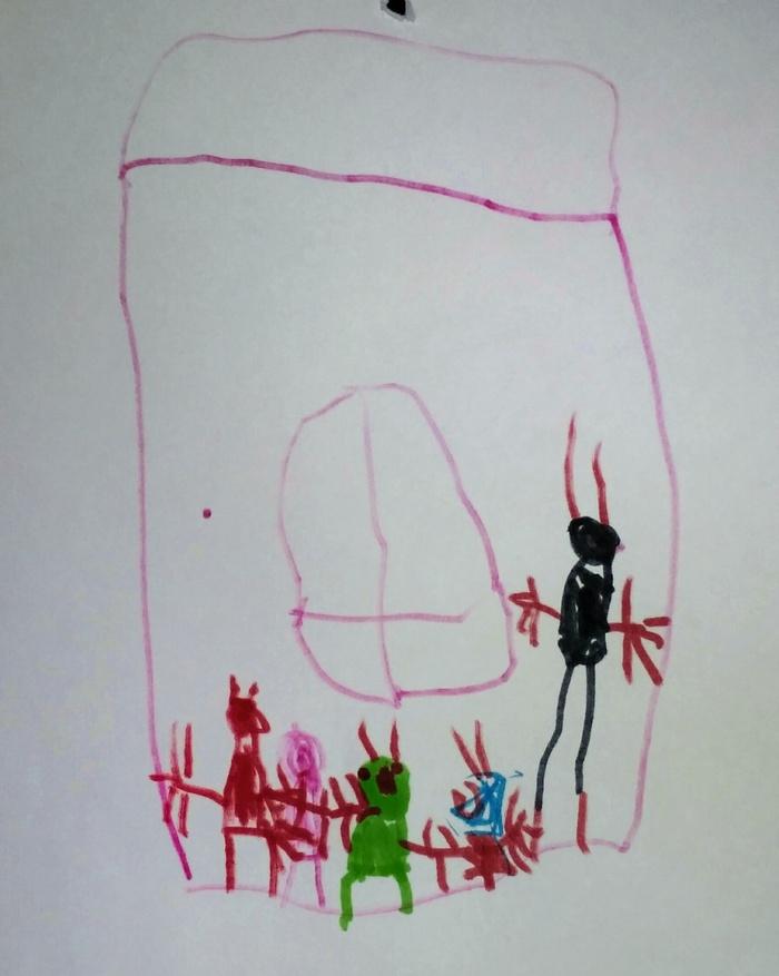 Вызывайте экзорциста! Детские рисунки, Рисунок, Крипота, Вызывайте экзорциста, Черт