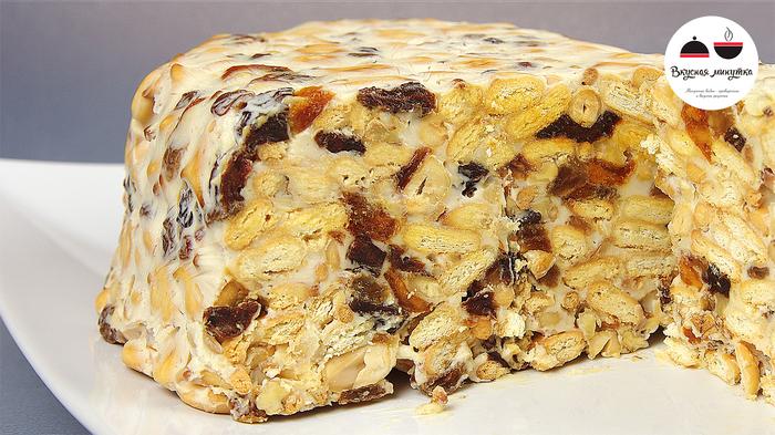 Торт из сухофруктов и орехов без выпечки