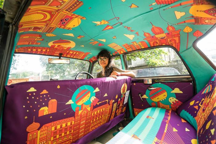 Такси на зависть: необычное оформление автомобилей в Индии. Сколько удивительного и интересного в мире Такси, Авто, Искусство, Живопись, Роспись, Индия, Мумбаи, Длиннопост