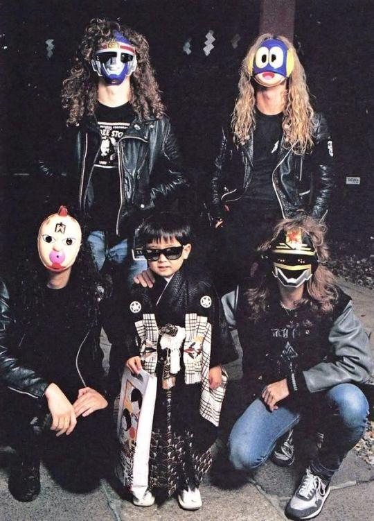 Metallica в Японии, 1986 год.