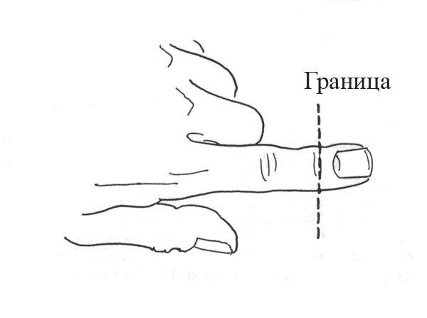 Большой палец разрезать член