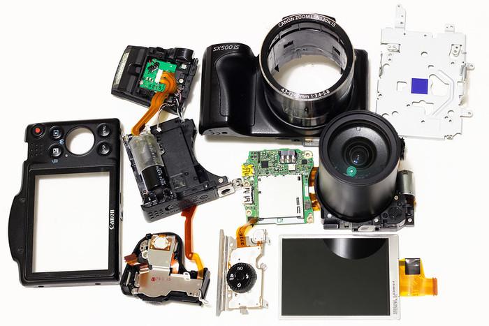 У нас в ремонте canon SX500IS У нас в ремонте, Ремонт техники, Canon, Фототехника, Любитель, Lubitel, Мыльница, Ремонт фотоаппарата, Длиннопост