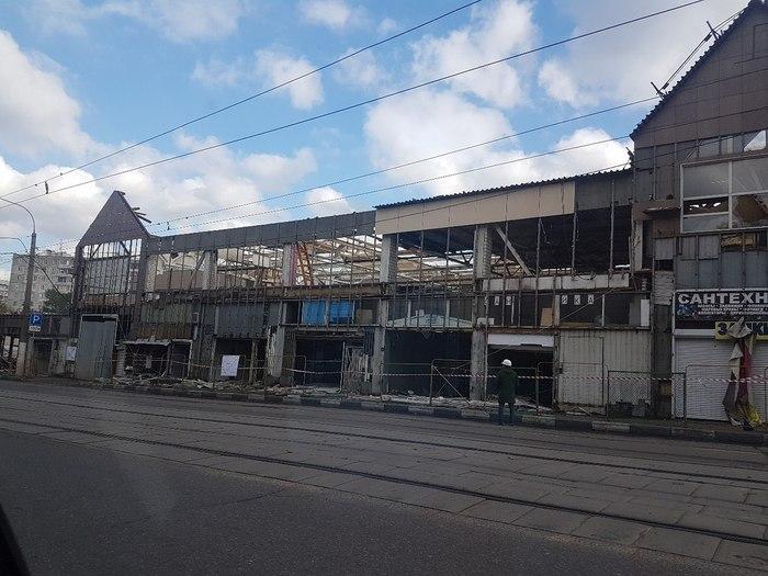 Снесли москворецкий строительный рынок. Строительный рынок, Демонтаж, Реновация