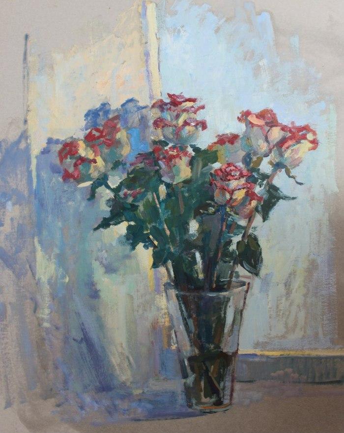 Розы.этюд
