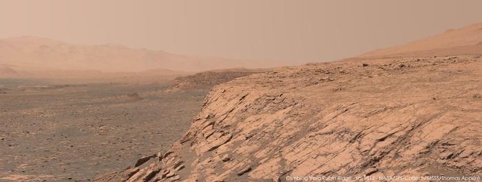 Недавняя панорама, запечатленная марсоходом Curiosity Curiosity, марс, космос