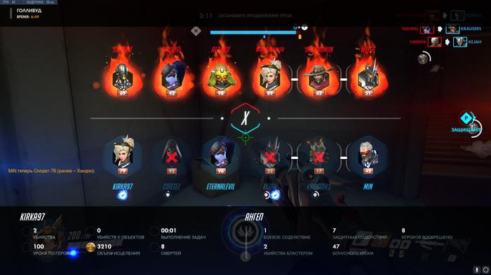 Враги vs тимейты Overwatch, Враг, Союзники, Боль
