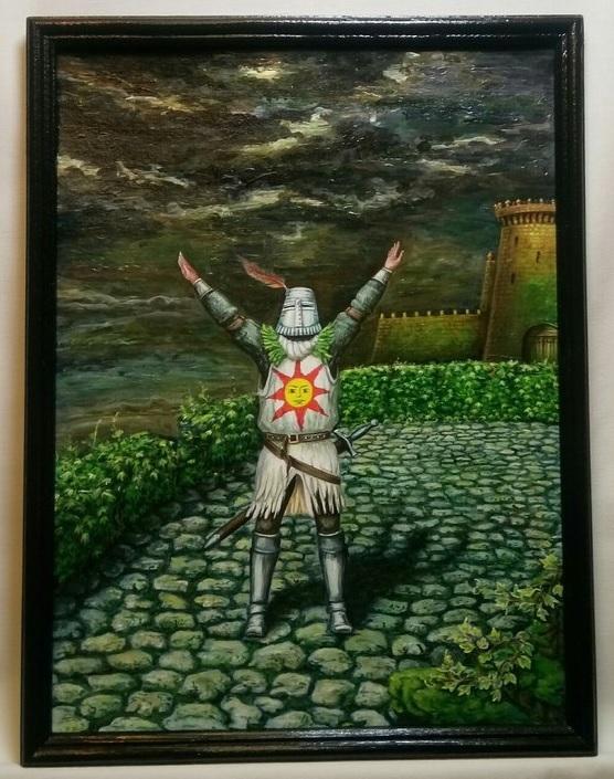 """Картина """"Солер из Асторы"""" Dark souls, Soler of Astora, Солер из асторы, Картина, Компьютерные игры, Творчество, Praise THE SUN"""