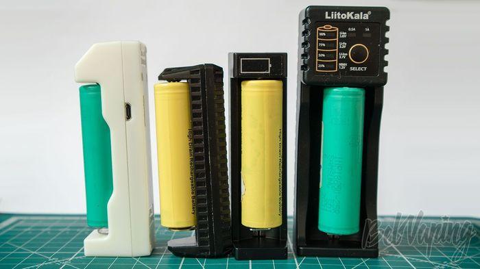 Обзор 4 компактных зарядных устройств Зарядное устройство, Обзор, Тестирование, PowerBank, Vape, Длиннопост