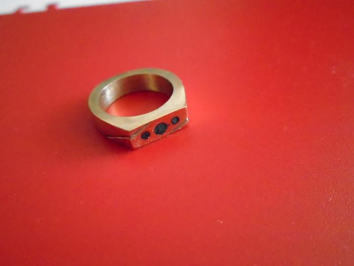 Дешево и сердито) Кольцо, Перстень, Латунь, Длиннопост