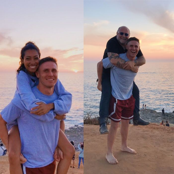 Байкер сказал, что тоже хочет красивое фото на пляже.