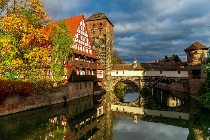 Осень в Нюрнберге. Длиннопост, Фотография, Нюрнберг, Германия, Бавария, Осень, Canon 5D