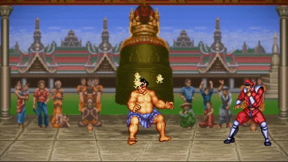 "Фаталити в ""Super Street Fighter 2"" Видео, Видео по мотивам игр, Street Fighter, The Pixel Kingdom, Fatality, 16 бит, Гифка"