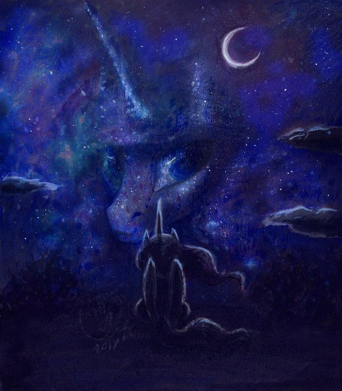 Ночь Princess luna, My little pony, Ponyart