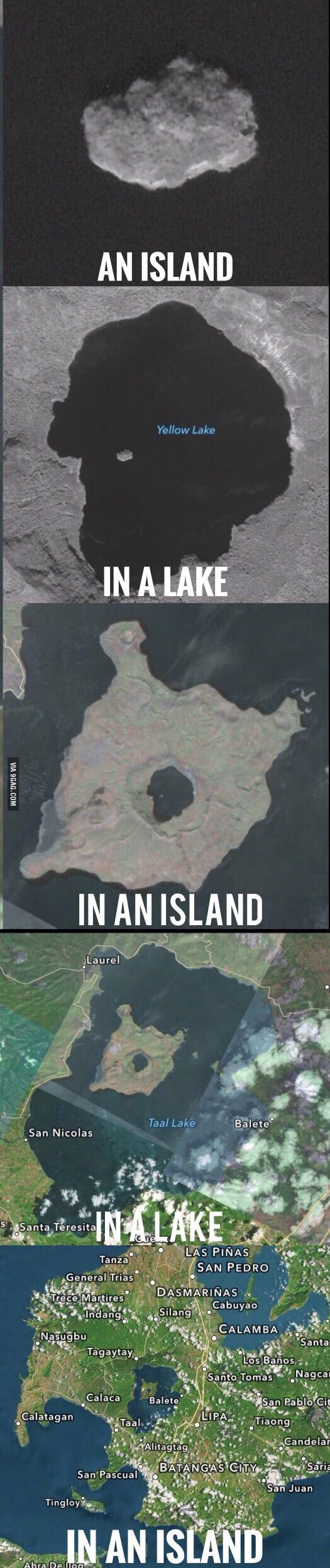 Остров на озере, на острове, на озере, на острове. Остров, Озеро, 9gag, Рекурсия, Длиннопост