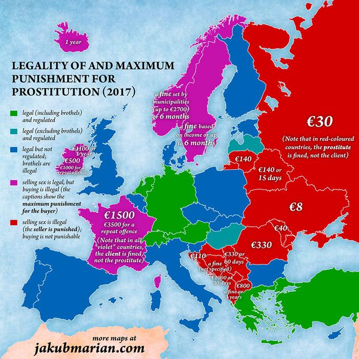 европе в средняя проститутки цена