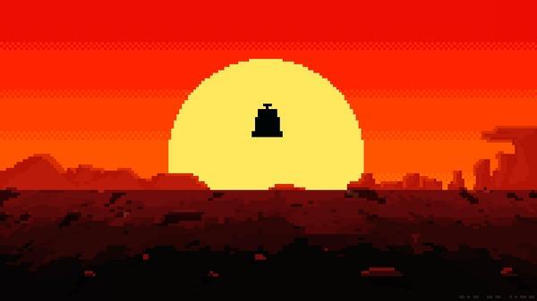 Полёт без гравицапы (Анимированная версия) Pixel art, Анимация, Кин-Дза-Дза!, Пепелац, Гравицапа, Полет, Пустыня, Гифка