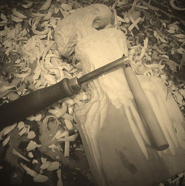 Чужой:зарождение из деревяхи в скульптуру Чужой, Чужие, Чужой против Хищника, Хищник, Резьба по дереву, Длиннопост