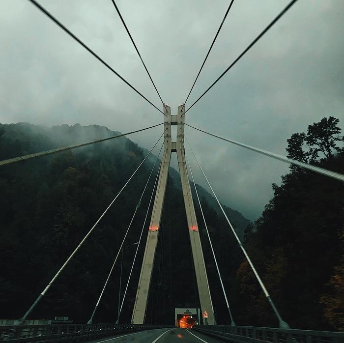 Осень в Сочи Сочи, Красная Поляна, Осень, Туман, Длиннопост