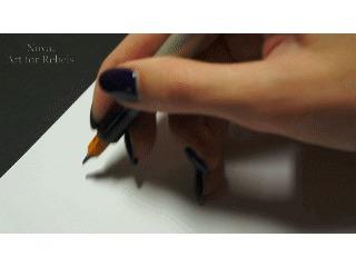 "Счастливого Хэллоуина! (""Trick or Treat"") Nova, Artforrebels, Parallel Pen, Каллиграфия, Моё, Хэллоуин, Гифка"