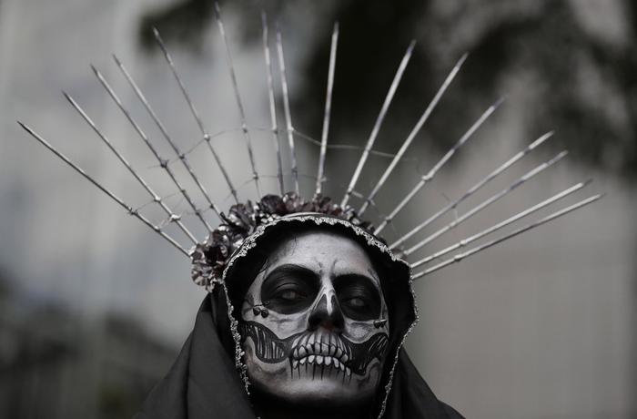 В ожидании начала процессии Катрин Фотография, День мёртвых, Мехико, Мексика, Dia de los Muertos