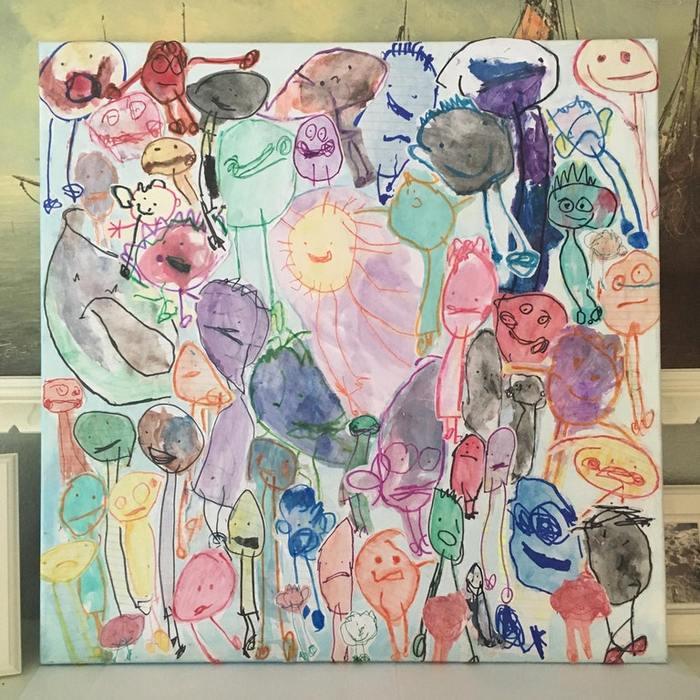 У моей семилетней дочери синдром дауна Папа, Рисунок, Синдром дауна, Я тебя люблю, Трогательно, День отца, Дочь, Милота