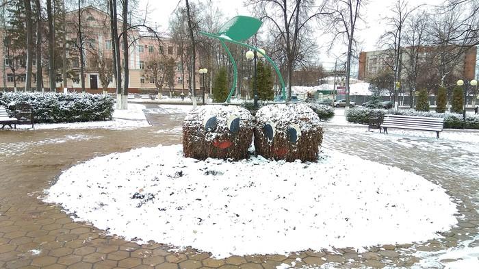 Цветочные скульптуры поздней осенью Цветочные скульптуры, Зима, Крипота
