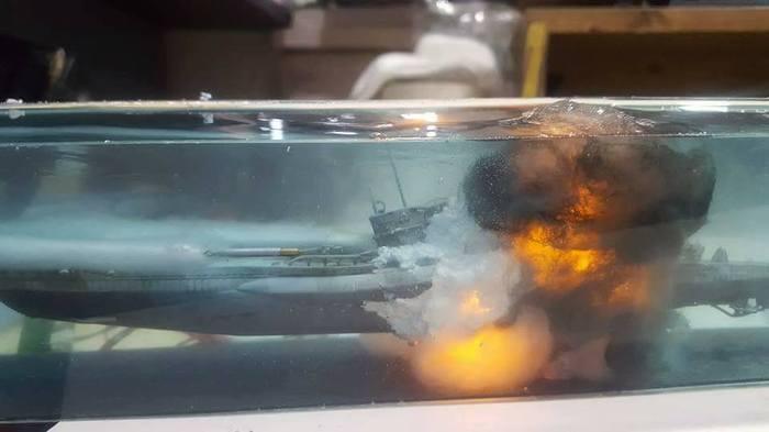 Это EPIC! Стендовый моделизм, Субмарина, Торпеда, Взрыв, Фотография, Длиннопост