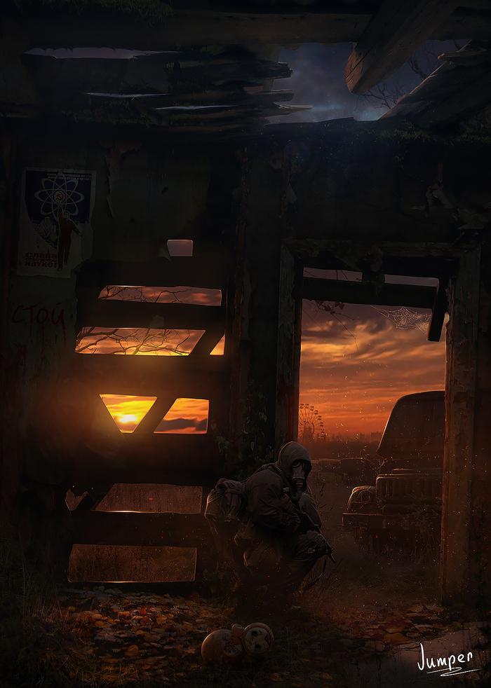В закат