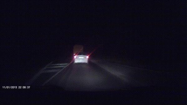 Внезапно #2 ДТП, Ночь, Трасса, Грузовик, Внезапно, Гифка, Видео