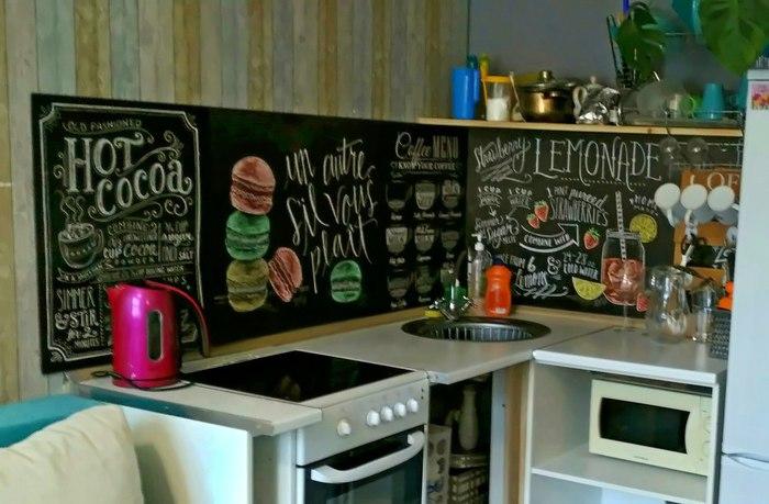 """Когда рекламщику скучно. Часть 3. """"Фартук с печатью на кухни за копейки"""". Кухонный фартук, Фартук, Интерьер, Дизайн интерьера, Рекламное агентство"""