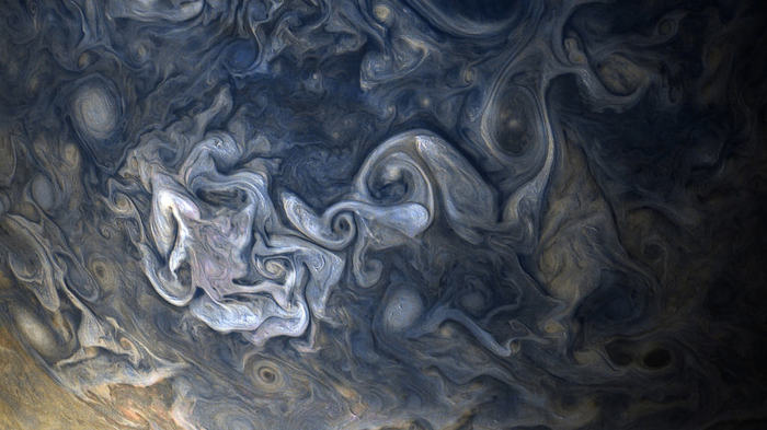«Juno» передал великолепные снимки облаков Юпитера Juno, Юпитер, Космос, Длиннопост