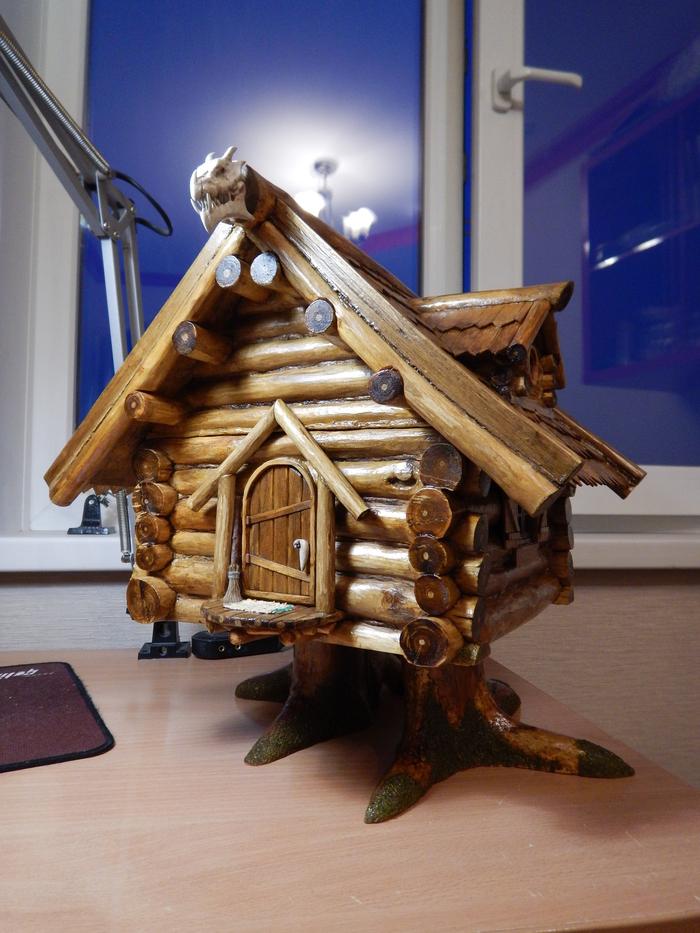 """Шкатулка """"Дом хозяйки леса"""" (часть вторая) рукоделие, handmade, шкатулка, избушка на курьих ножках, видео, длиннопост"""